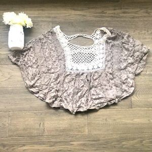 🌺4/$30🌺Kirra | Brown and cream lace top